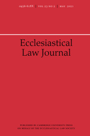 Ecclesiastical Law Journal Volume 23 - Issue 2 -