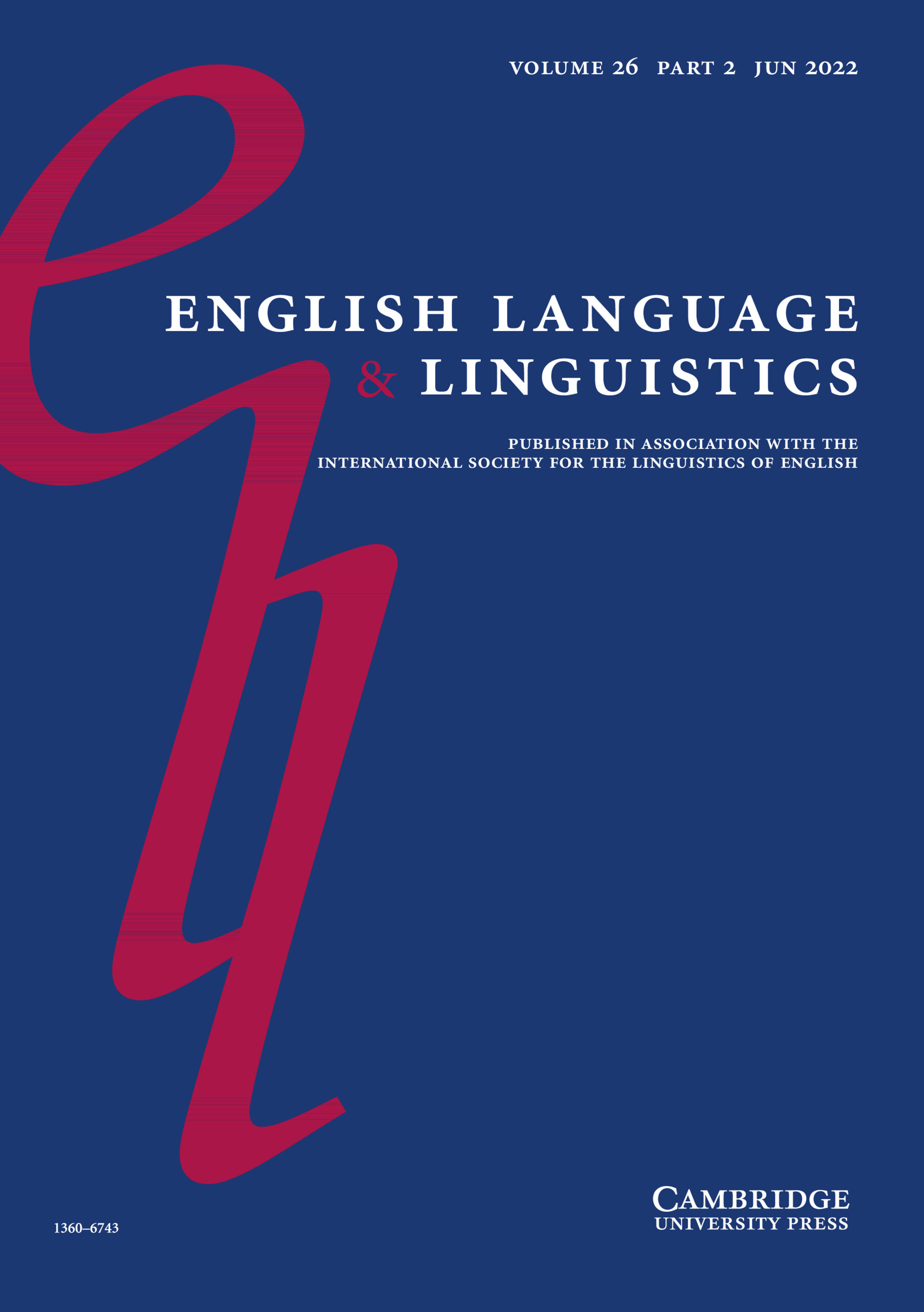 English Language & Linguistics | Cambridge Core