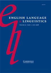 English Language & Linguistics Volume 12 - Issue 2 -