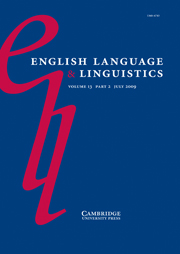 English Language & Linguistics Volume 13 - Special Issue2 -  Re-evaluating the Celtic hypothesis
