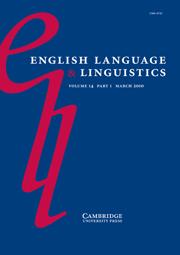 English Language & Linguistics Volume 14 - Issue 1 -