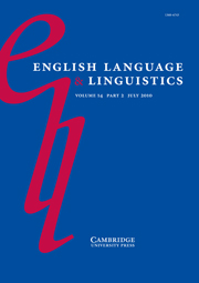 English Language & Linguistics Volume 14 - Issue 2 -  Future time reference in English