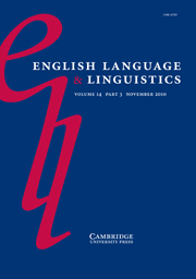 English Language & Linguistics Volume 14 - Issue 3 -