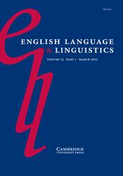 English Language & Linguistics Volume 15 - Issue 1 -