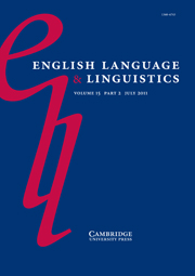 English Language & Linguistics Volume 15 - Issue 2 -  The structure of the noun phrase in English: synchronic and diachronic explorations