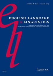 English Language & Linguistics Volume 18 - Issue 1 -