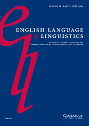 English Language & Linguistics Volume 18 - Issue 2 -  Genitive variation in English