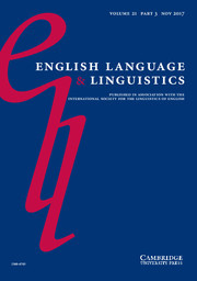 English Language & Linguistics Volume 21 - Issue 3 -