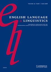 English Language & Linguistics Volume 22 - Issue 1 -