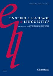 English Language & Linguistics Volume 24 - Special Issue3 -  Studies in Late Modern English historical phonology using the Eighteenth-Century English Phonology Database (ECEP)