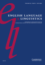 English Language & Linguistics Volume 25 - Issue 2 -