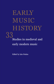 Early Music History Volume 33 - Issue  -