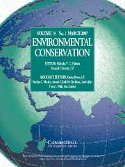Environmental Conservation Volume 34 - Issue 1 -