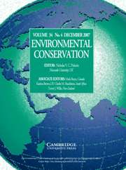 Environmental Conservation Volume 34 - Issue 4 -
