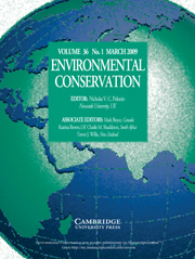 Environmental Conservation Volume 36 - Issue 1 -