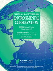 Environmental Conservation Volume 36 - Issue 3 -