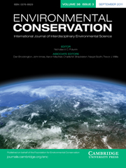 Environmental Conservation Volume 38 - Issue 3 -