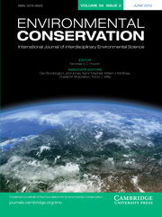 Environmental Conservation Volume 39 - Issue 2 -