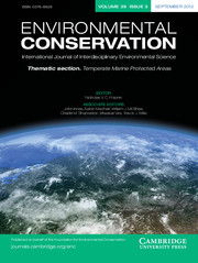 Environmental Conservation Volume 39 - Issue 3 -  Thematic section. Temperate Marine Protected Areas