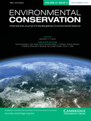 Environmental Conservation Volume 41 - Issue 3 -