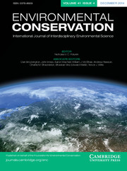 Environmental Conservation Volume 41 - Issue 4 -