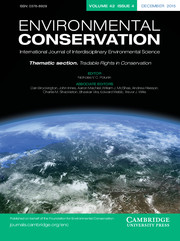 Environmental Conservation Volume 42 - Issue 4 -  Thematic section: Tradable Rights in Conservation