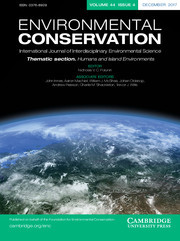 Environmental Conservation Volume 44 - Issue 4 -  Thematic section: Humans and Island Environments