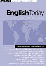 English Today Volume 20 - Issue 2 -