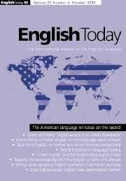 English Today Volume 22 - Issue 4 -