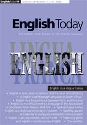 English Today Volume 24 - Issue 2 -