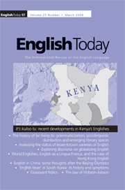 English Today Volume 25 - Issue 1 -