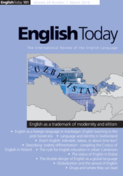English Today Volume 26 - Issue 1 -