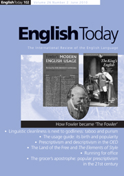 English Today Volume 26 - Issue 2 -