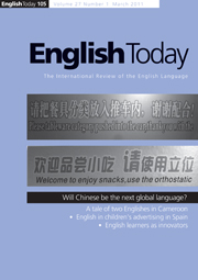 English Today Volume 27 - Issue 1 -