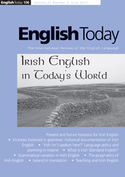 English Today Volume 27 - Issue 2 -
