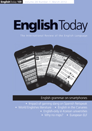 English Today Volume 28 - Issue 1 -