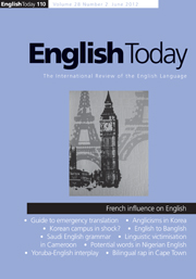 English Today Volume 28 - Issue 2 -