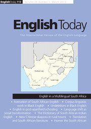 English Today Volume 29 - Issue 1 -