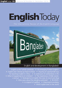 English Today Volume 30 - Issue 4 -