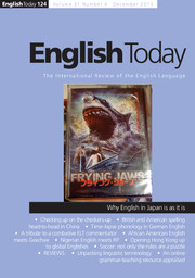 English Today Volume 31 - Issue 4 -