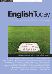 English Today Volume 32 - Issue 1 -