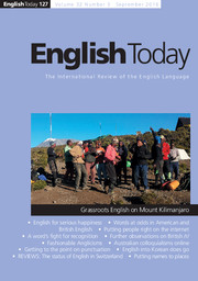 English Today Volume 32 - Issue 3 -