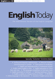 English Today Volume 33 - Issue 1 -