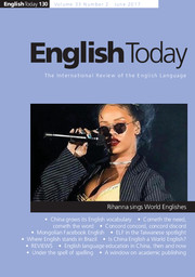 English Today Volume 33 - Issue 2 -