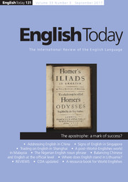 English Today Volume 33 - Issue 3 -