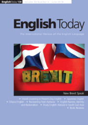 English Today Volume 34 - Issue 2 -