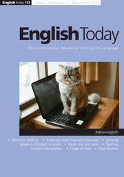 English Today Volume 34 - Issue 3 -