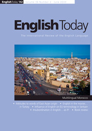 English Today Volume 36 - Issue 2 -