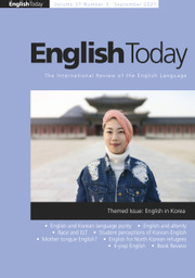 English Today Volume 37 - Issue 3 -