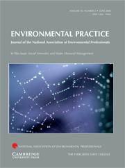 Environmental Practice Volume 10 - Issue 2 -